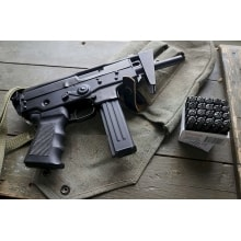 ПП 01 Кедр-СХП выложенный Пистолет-пулемёт Кедр стреляющий холостыми патронами на автоматическом режиме